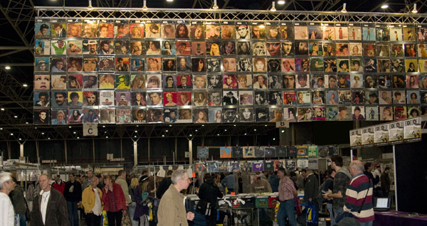 Rare vinyl records for sale at the Mega Platen & CD Beurs in Utrecht, NL