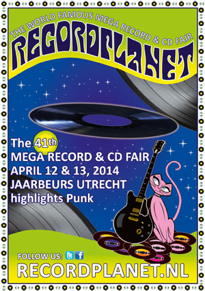 Recordplanet's  Mega Record & CD Fair April 12 & 13, 2014