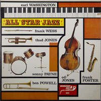 EARL WASHINGTON  -  ALL STAR JAZZ - november - 1962