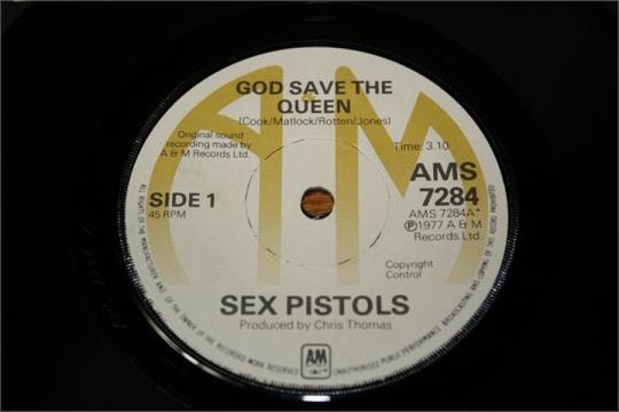 SEX PISTOLS A&M GOD SAVE THE QUEEN