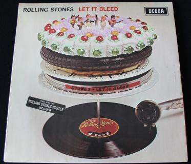 THE ROLLING STONES   LET IT BLEED 1ST MONO WITH POSTER